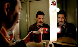 Ciaran Hinds in his dressing room