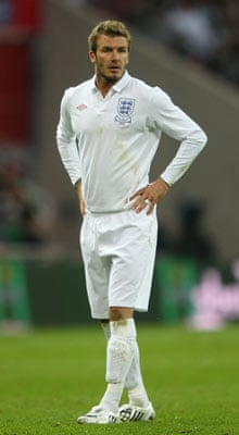 David Beckham in his new England kit