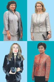 Therese Rein, Svetlana Medvedev, Liu Yong-qing, Veronica Lario