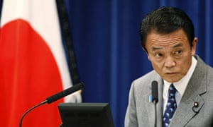 Japanese prime minister Taro Aso.