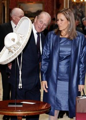 G20 partners: Senora Maragarita Zavala with Prince Philip.