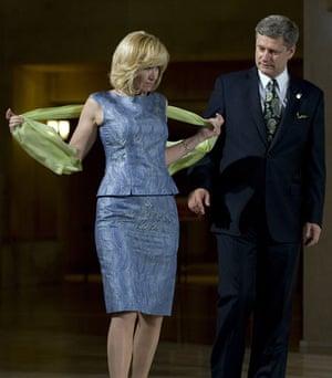 G20 partners: Laureen Harper the wife of Canadian Prime Minister Stephen Harper.