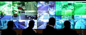 G20: A large screen in the Metropolitan Police Specialist Operations Room