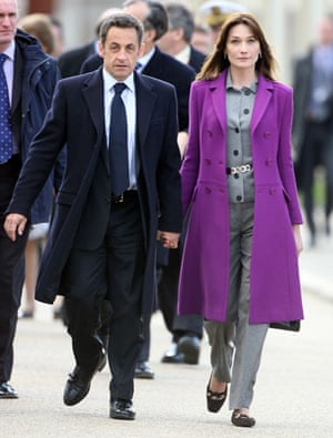 G20 partners: French President Nicolas Sarkozy and his wife Carla Bruni in London.