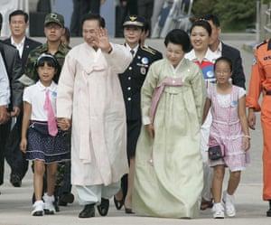 G20 partners: South Korean President Lee Myung-bak and his wife Kim Yoon-ok