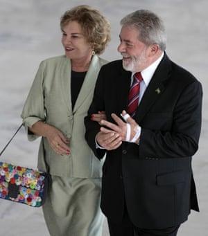 G20 partners: Brazil's President Luiz Inacio Lula da Silva and First Lady Marisa Leticia.