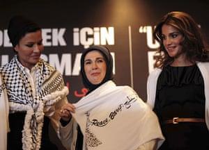 G20 partners: Emine Erdogan, wife of Turkish Prime Minister Recep Tayyip Erdogan.