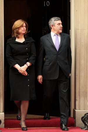 G20 partners: Prime Minister Gordon Brown and his wife Sarah Brown at Downing Street.