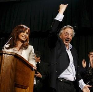 G20 partners: Argentina's President Cristina Fernandez and husband Nestor Kirchner