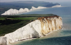 South Downs National Park: The white chalk cliffs, the Seven Sisters