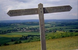 South Downs National Park: South Downs Way Marker