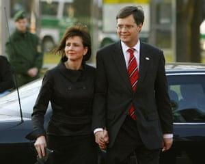 G20 partners: Netherlands: Prime Minister Jan Peter Balkenende and his wife Bianca.