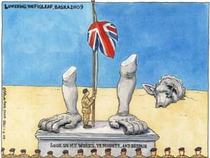 01.04.09: Steve Bell on the handover in Basra