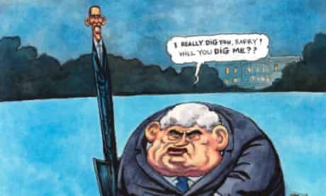 04.03.09: Steve Bell on Brown and Obama