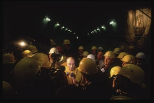 Eurotunnel : Francois Mitterrand Visits the English Channel Tunnel Construction Site