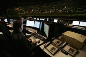 Eurotunnel : The Eurotunnel control room