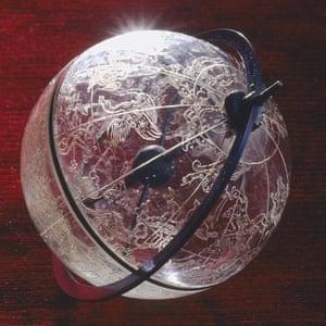Galileo exhibition: engraved rock crystal celestial globe