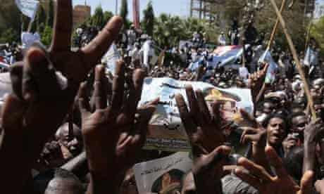 Supporters of Sudan's president