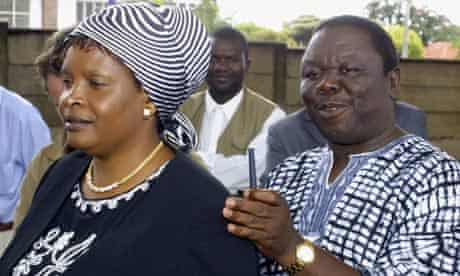 Susan and Morgan Tsvangirai during the 2005 elections