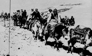 Tibetan uprising: 21 March 1959: The Dalai Lama and his escape party during their flight