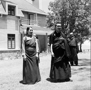 Tibetan uprising: 19 May 1959: The Dalai Lama with his mother