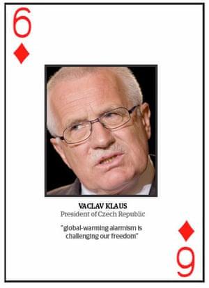 Climate change deniers: Top 10 climate change deniers: Vaclav Klaus