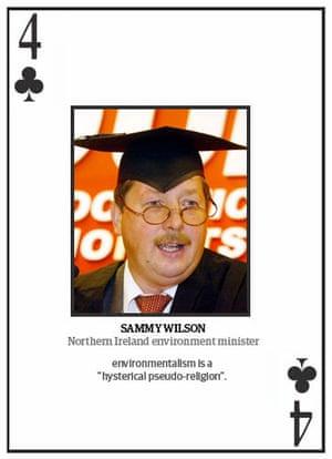 Climate change deniers: Top 10 climate change deniers: Sammy Wilson