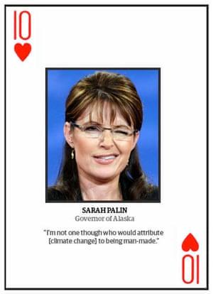 Climate change deniers: Top 10 climate change deniers: Sarah Palin