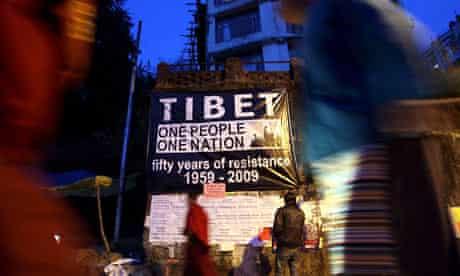 A pro-Tibetan poster in Dharamshala