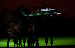 G20 Summit: Marine One, the presidential helicopter carrying Barack Obama