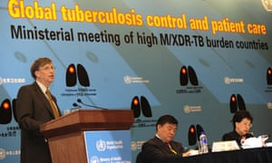 Bill Gates addressesmeeting in Beijing about tuberculosis threat