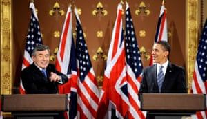 G20 summit: Barack Obama: Gordon Brown and President Obama hold talks in Foreign Commonwealth Office.