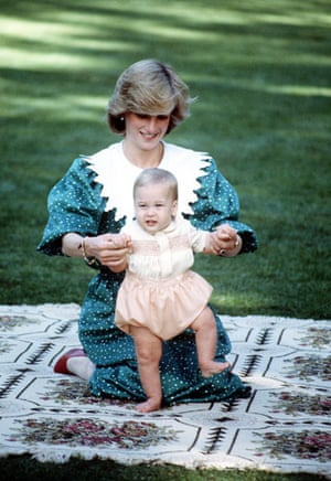 Prince William and Harry: Prince William with Princess Diana