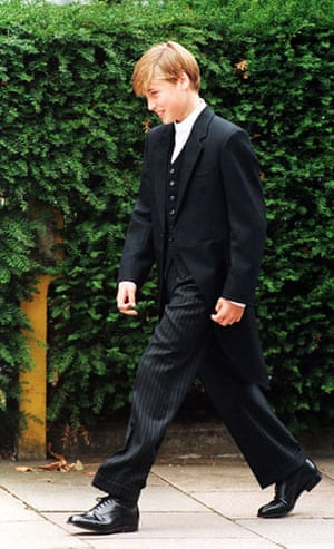 Prince William and Harry: Prince William first day at Eton School