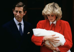 Prince William and Harry: Princess Diana holds baby Prince Harry with Prince Charles