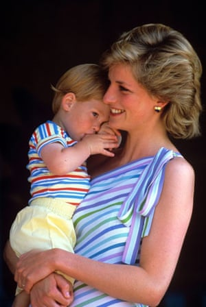 Prince William and Harry: Princess Diana with Prince Harry Majorca, Spain