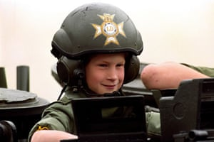 Prince William and Harry: Prince Harry during a visit to the barracks in Hanover