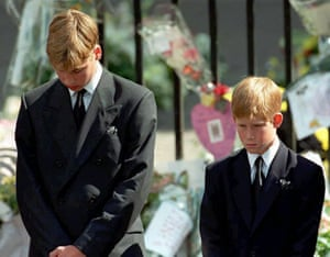 Prince William and Harry: Prince William and Prince Harry at Princess Diana's funeral