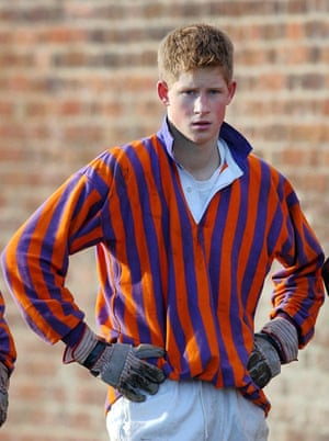 Prince William and Harry: Prince Harry playing Eton wall game