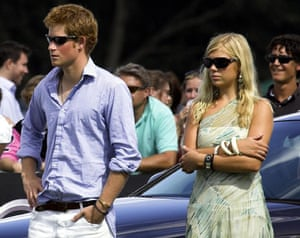 Prince William and Harry: Prince Harry and Chelsy Davy at a polo match