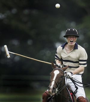 Prince William and Harry: Prince Harry plays polo