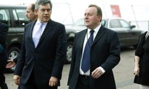 Prime Minister Gordon Brown with his special adviser Damian McBride