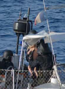 French commandos aboard the Tanit