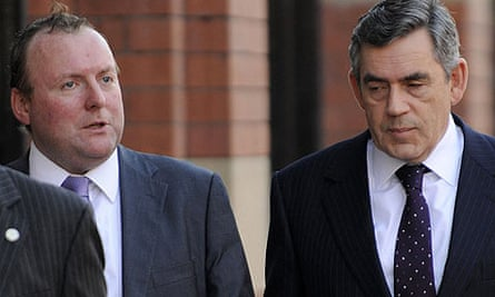 Gordon Brown with Damian McBride at the 2008 Labour party conference