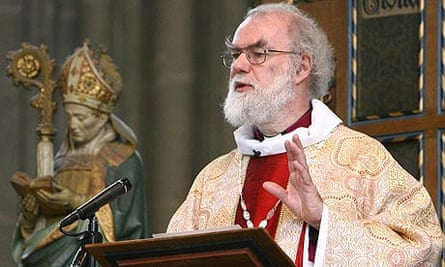 The archbishop of Canterbury, Rowan Williams, delivers his Easter sermon at Canterbury Cathedral