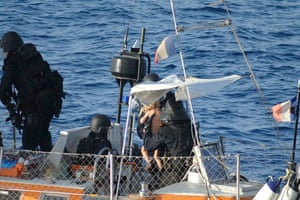 Tanit yacht hijack: French commandos aboard the Tanit, during the release operation