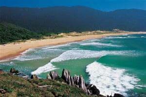 Brazil beaches: Lagoinha do Leste beach in Brazil