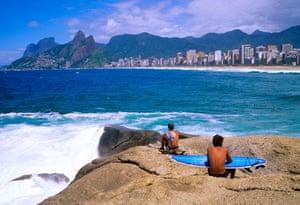 Brazil beaches: Arpoador beach in Brazil
