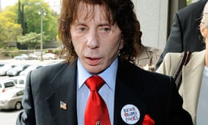 Phil Spector arrives at court in Los Angeles