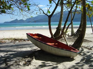 Brazil beaches: Lopes Mendes beach in Rio State Brazil